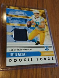 2020 Absolute Football NFL Justin Herbert Rookie Force Patch Jersey relic ROTY