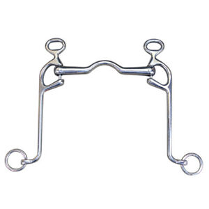 Hilason Stainless Steel Walking Horse Bit Low Port Mouth U--020