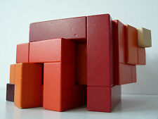 ORIG. naef cubicus madera cubo kindersteckspiel Design-objeto rojo