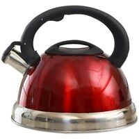3L Stainless Steel Whistling Tea Kettle Tea Pot with Heat-Proof Handle - St G4M5