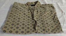 Santana Mens Short Sleeved Button Up Shirt Vintage Size Xl Tall