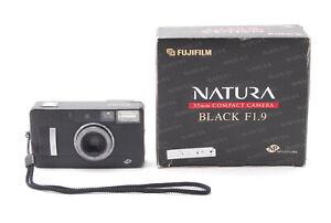 <Exc+4> Fujifilm Fuji Natura Black f/1.9 Point Shoot Film Camera Ship by FedEx