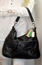 COACH Poppy Avery Leather Shoulder Hand Bag Black