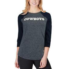 ffc038843 Dallas Cowboys Women's Nike Wordmark Tri-Blend Raglan Shirt - Heathered Navy