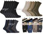 Mens100% Chaussettes En Coton Régulier Taille 39-44 Paquet of12 Décontracté &