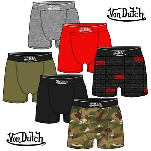 Von Dutch Mens Boxer Shorts / Trunks - Assorted 6 Pack - All Sizes - Great Value