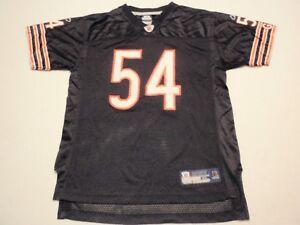 Brian Urlacher Chicago Bears Reebok NFL Equipment Jersey Boys Extra Large   #54