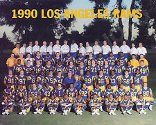 1990 LOS ANGELES RAMS NFL FOOTBALL 8X10 TEAM  PHOTO