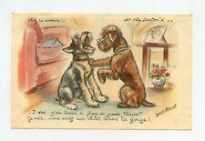 illustrateur Germaine BOURET . Chez le docteur . Chiens. Dogs