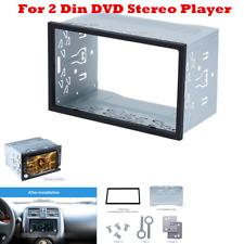 Silver Car Stereo Radio Fascia Dash Panel 2 Din Navigation Panel Frame Trim Kit