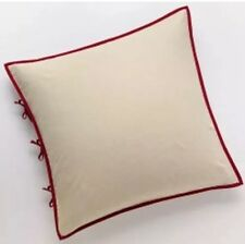 "Chaps Home Juliette Euro Pillow Sham Size: 26 x 26"" New Set Of 2 Ivory / Red"