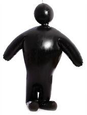 100%Latex Rubber Black Inflatable Suit Zipper Bodysuit Full-body Size XS~XXL