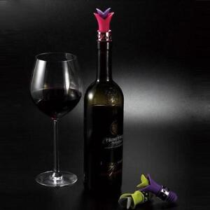 Reusable 2 in 1 Lily Flower Shaped Silicone Wine Pourer and Bottle Stopper J