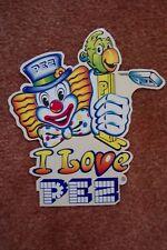 PEZ Retired Non-U.S. Dealer Sticker Decal-Peter Pez Holding Parrot Whistle -Mint