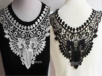 1 Pc Fabric Polyester Venise Collar Neckline Lace Trim Applique DIY Sewing Craft