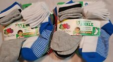 Fruit of the Loom Toddler Boys Ankle Socks  Size L 7.5 - 11 Ages 3-5    22 Pair