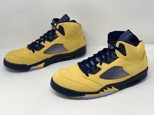 Air Jordan 5 'Michigan' Yellow Sneaker, Size 15 BNIB CQ9541-704