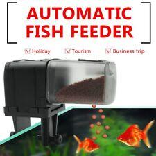 AU Automatic Fish Food Feeder Pet Feeding Aquarium Tank Pond Auto Tank Dispenser