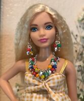 Handmade Jewelry for Barbie -  Multi-Color Beaded Necklace And Earrings