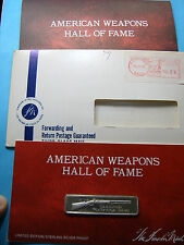 J & S HAWKEN PLAINS RIFLE GUN WEAPONS HALL FAME SILVER BAR MINT SEALED PAPERS