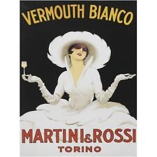 Martini Rossi Drink Girl Classic Cocktail Bar Advertising Small Metal/Tin Sign
