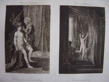 Estampe  Gustave MOREAU  Femme persane à sa toilette et femme à son lever