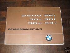 Betriebsanleitung BMW 2500, 2.8, 3.0 + 3.3, Stand 1975