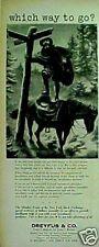 1954 Dreyfus Co~New York Stock Market Investment Art AD