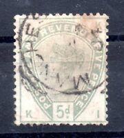 GB QV 1883 5d green fine used SG193 WS10275