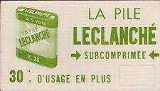 BUVARD ANCIEN PUBLICITAIRE- LA PILE LECLANCHE - 4.5 VOLTS -