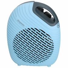 2KW 2000W Electric Upright Two Tone Blue Blow Fan Heater Hot or Cold Air