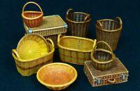 1/35 Resin Wicker baskets unpainted unassembled QJ128
