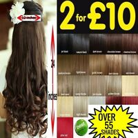 """hair extensions One Piece 24"""" Clip in cheap black blonde brown curly straight"""