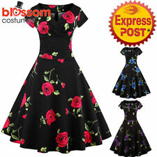 Rockabilly Formal Floral Dresses for Women