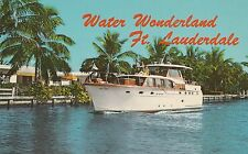 Lam(W) Fort Lauderdale, Fl - Water Wonderland - Yacht Underway on a Canal