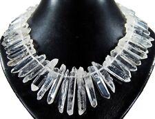 Wunderschöne Edelsteinkette aus Bergkristall in Stäbchenform