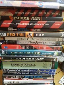 VARIOUS MUSIC DVDS ROCK, POP, INDIE, CROONERS, MULTI PURCHASE DISCOUNT FREEPOST