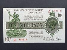 Great Britain Ireland Treasury 10 Shillings 10/- T30 1922 Warren Fisher L/63 EF