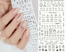 1 Sheet Letter Nail Art Sticker Water Decals Finger DIY Art Transfer Sticker