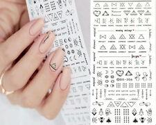 1 Sheet Letter Nail Art Sticker Water Decals DIY Finger Art Transfer Sticker Hot