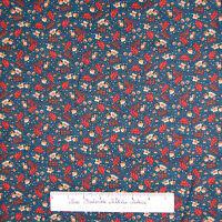 Harvest Fabric - Brown Leaves & Acorn Toss on Dark Blue - Northcott Cotton YARD