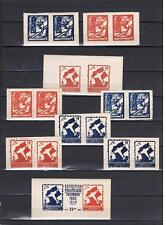 WW2 France 1946 Paris POW Expo Philatelic Souvenirs Full set MNH X RARE