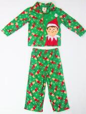 ELF ON THE SHELF BOYS CHRISTMAS SANTA FLANNEL PJ'S PAJAMAS 2 PC SET 4T NWT