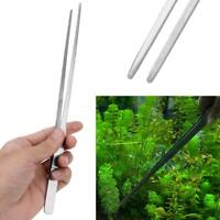 10.5 Inch Stainless Steel Aquarium Plant Long Tongs Tweezers 27CM For Universal
