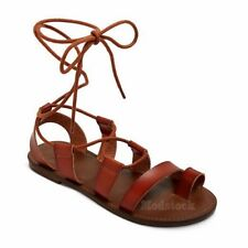 Womens Mossimo Supply Lilac Brown Lace Gladiator Sandals NWOB C184