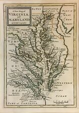 A New Map of Virginia and Maryland 1741 Herman Mol