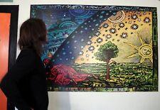 Tamaño Gigante el Flammarion grabado 1888 psicodélico tierra plana firmamento Cartel