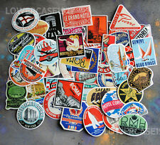 55 Travel retro style vinyl stickers vintage suitcase no repeat holiday vacation