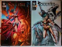 SIGNED! SOULFIRE #1 + #9 VARIANT JOE BENITEZ + PETER STEIGERWALD aspen comics