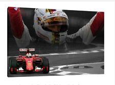 Sebastian Vettel 30x20 Inch Canvas - Monza GP F1 Farmed Ferrari Picture